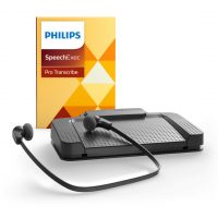 Philips SpeechExec Pro LFH7277 Transcription Kit - SEP, 4 Button Foot Control, Under-Chin Headset