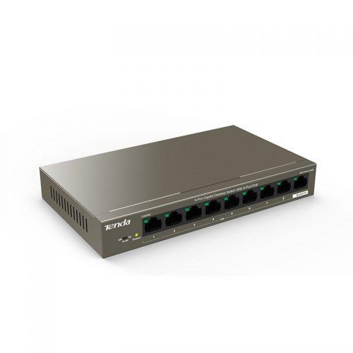 Tenda TEG1109P-8-102W Switch, 9-Port Gigabit Desktop Switch with 8-Port PoE